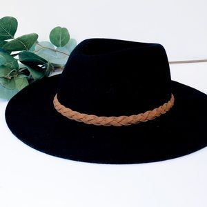Merona • Black Wool Flexible Brim Rancher Hat